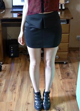 Классическая юбка с баской oodji
