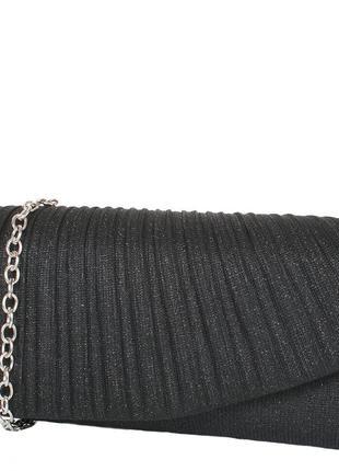 Женский клатч из ткани donna черный