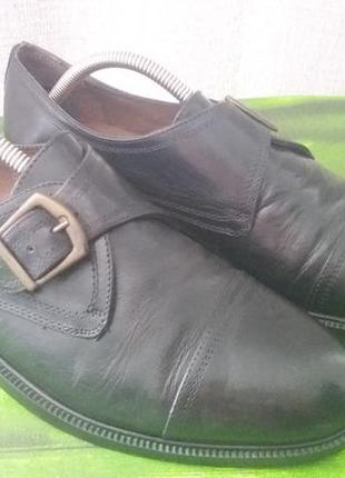 Кожаные туфли,туфлі 42