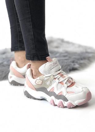 Шикарные женские кроссовки skechers pink 😍 (весна/ лето/ осень)