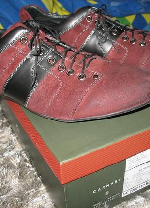 Туфли кроссовки carnaby, р.45, стелька 29, цвет темно-бордовый(на фото выглядят светлее)