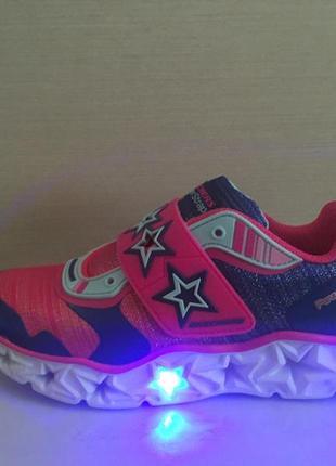 Новые светящиеся кроссовки led skechers