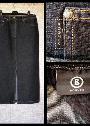 Крутая джинсовая юбка макси от bogner.