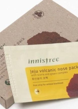 Патчи для очищения кожи носа с вулканическим пеплом innisfree jeju 6 штук