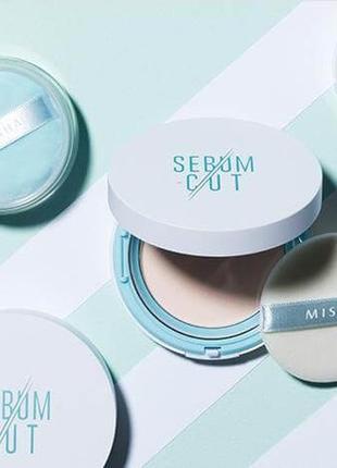 Матирующая компактная пудра missha sebum-cut powder pact