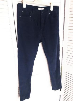 Вельветовые темно-синее штаны