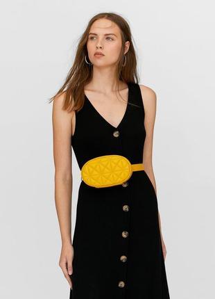 Обнова! сумка поясная овальная горчичная желтая эко-кожа качество бренд2 фото