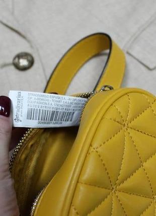 Обнова! сумка поясная овальная горчичная желтая эко-кожа качество бренд8 фото