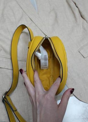 Обнова! сумка поясная овальная горчичная желтая эко-кожа качество бренд9 фото