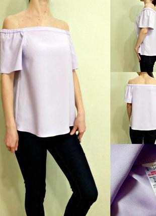 Красивейшая блуза с открытыми плечами - цвет как на фото бирки