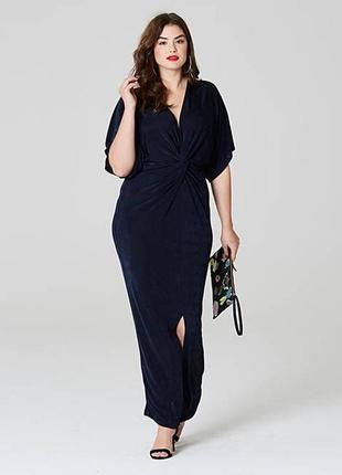 Длинное макси платье кимоно с узлом оверсайз,oversize