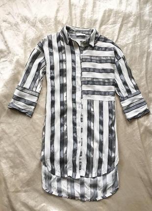 Интересная рубашка -туника /сорочка в полоску