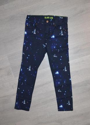 Стильные джинсы космос h&m p 128