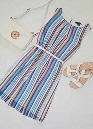 Очень красивое шифоновое платье в разноцветную полоску
