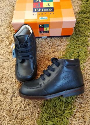 Ортопедичні шкіряні черевики chicco 27р. 18 см устілка