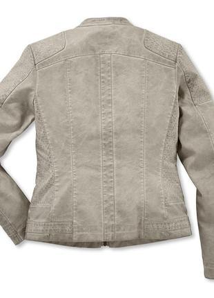 Бомба. крутая стильная куртка в байкерском стиле tchibo, германия - р. 48-50 укр.3 фото