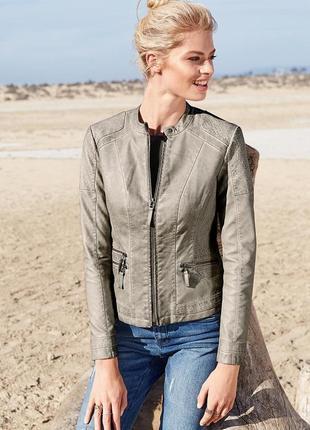 Бомба. крутая стильная куртка в байкерском стиле tchibo, германия - р. 48-50 укр.