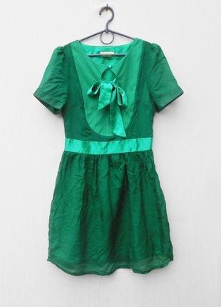 Летнее нарядное шелковое платье