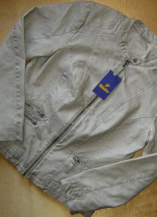 Бомба. крутая стильная куртка в байкерском стиле tchibo, германия - р. 48-50 укр.5 фото