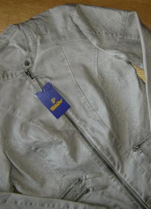 Бомба. крутая стильная куртка в байкерском стиле tchibo, германия - р. 48-50 укр.6 фото