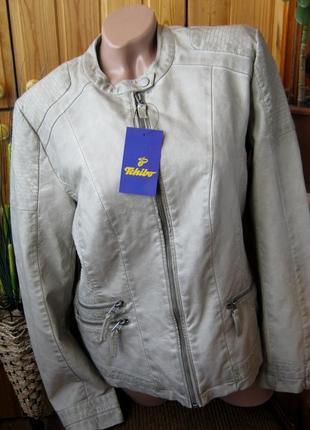 Бомба. крутая стильная куртка в байкерском стиле tchibo, германия - р. 48-50 укр.7 фото