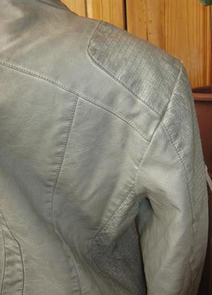 Бомба. крутая стильная куртка в байкерском стиле tchibo, германия - р. 48-50 укр.9 фото