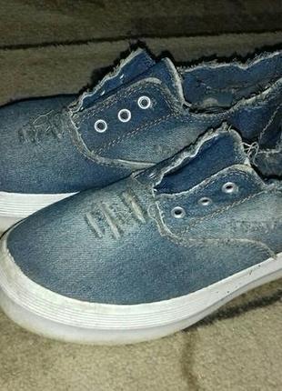 Кеды джинсовые на платформе