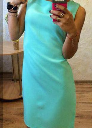 Новое платье футляр цвета мяты, разные размеры и цвета.
