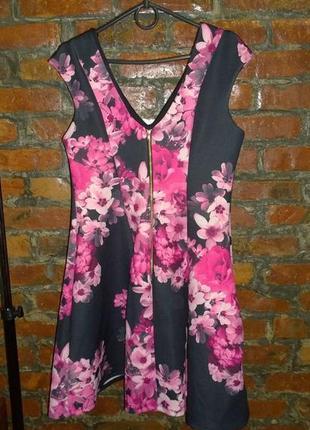 Платье из неопрена с цветочным принтом new look2 фото