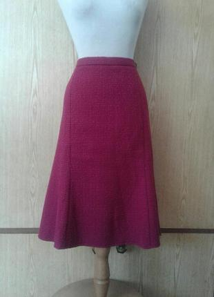 Буклированная малиновая юбка, 3xl -4xl.