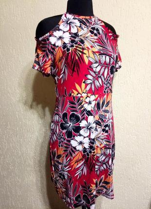 Красивое новое с биркой стильное платье, сарафан с открытыми плечами