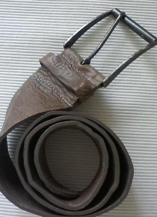 Кожаный итальянский ремень в стиле бохо,  от benetton