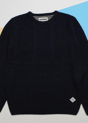 Красивый свитерок с элементами вязки от threadbare