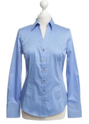 Роскошная брендовая блуза#рубашка calvin klein красивого голубого цвета