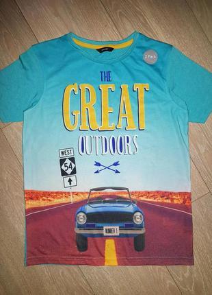 Яркая футболка на 11-12 лет (146-152 см)