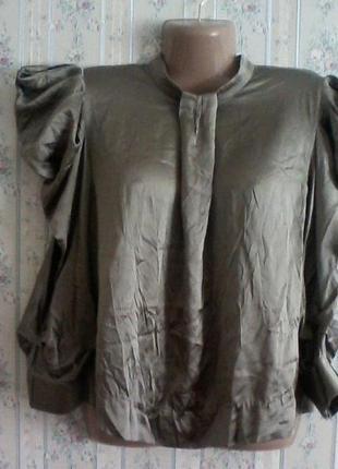Шелковая нарядная блуза, шелк, разм.  46-48