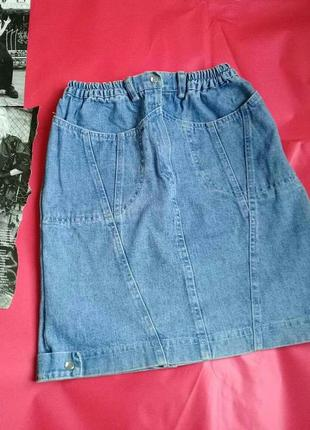 Трендова джинсова юбка