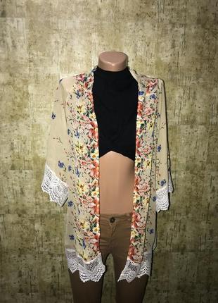 Шифоновая накидка,кимоно
