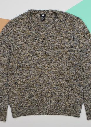 Притягательный хлопковый свитер в красивую текстуру от h&m