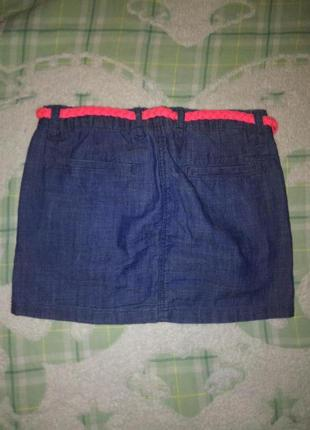 Джинсовая юбка h&m, размер 4 года