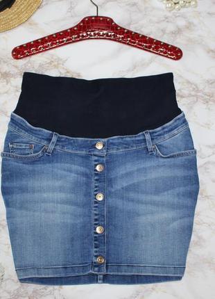 Обнова! юбка джинс деним для беременных h&m mama