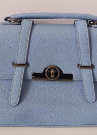 Летняя сумка портфель небесного цвета