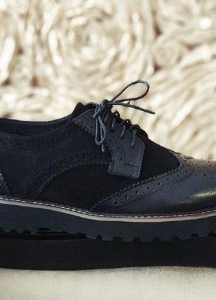 Мужкие стильные броги, туфли onyx. кожа +замш 100%  скидка при олате на карту