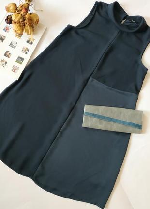 Тёмно-синее платье разлетайка, свободного кроя можна для беременных