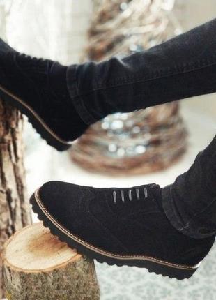 Мужские туфли, броги webster замша качество 100%