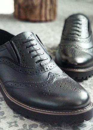 Мужские туфли, броги webster кожа качество 100%