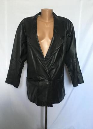 Красивая натуральная кожаная куртка пиджак