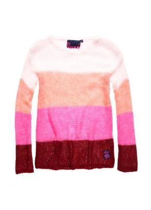Яркий свитер с шерстью от superdry