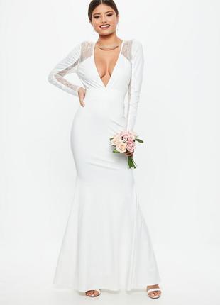 Свадебное венчальное вечернее платье missguided
