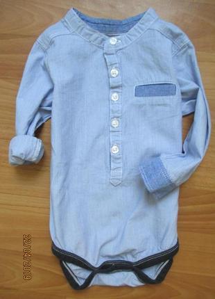 Рубашка-бодик nutmeg на 12-18 мес